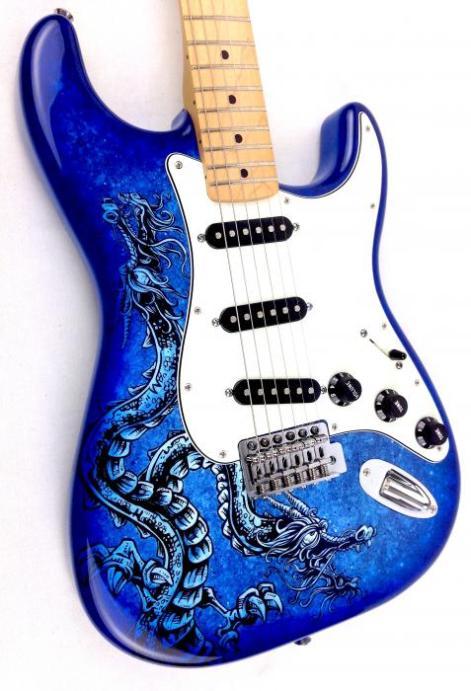 fender-lozeau-limited-edition-stratocaster-electric-guitar-blue-dragon